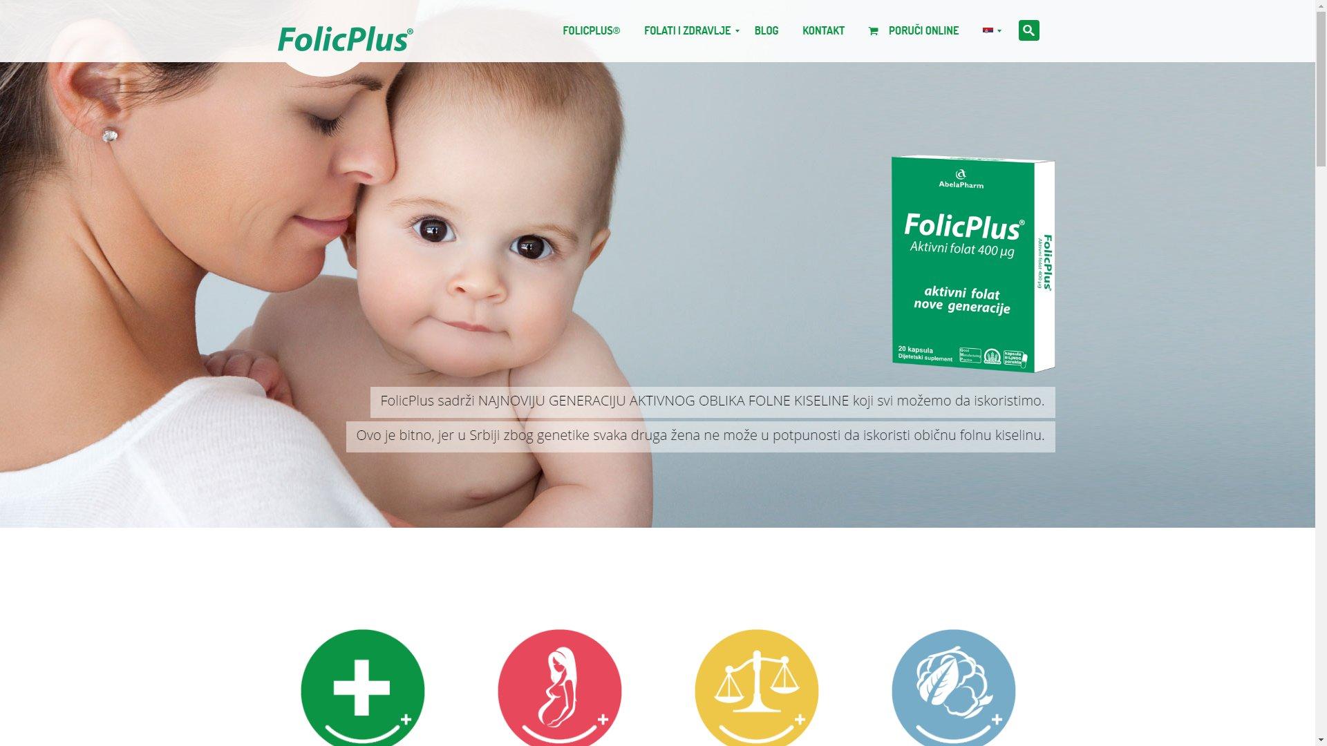 Folic Plus website - ss1