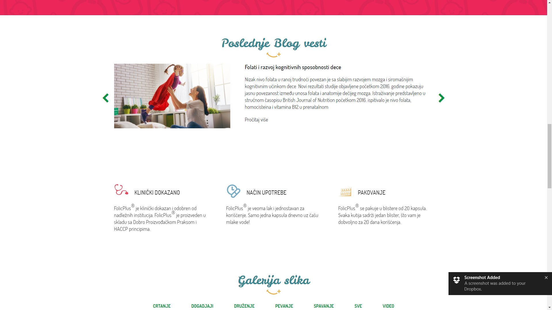Folic Plus website - ss3