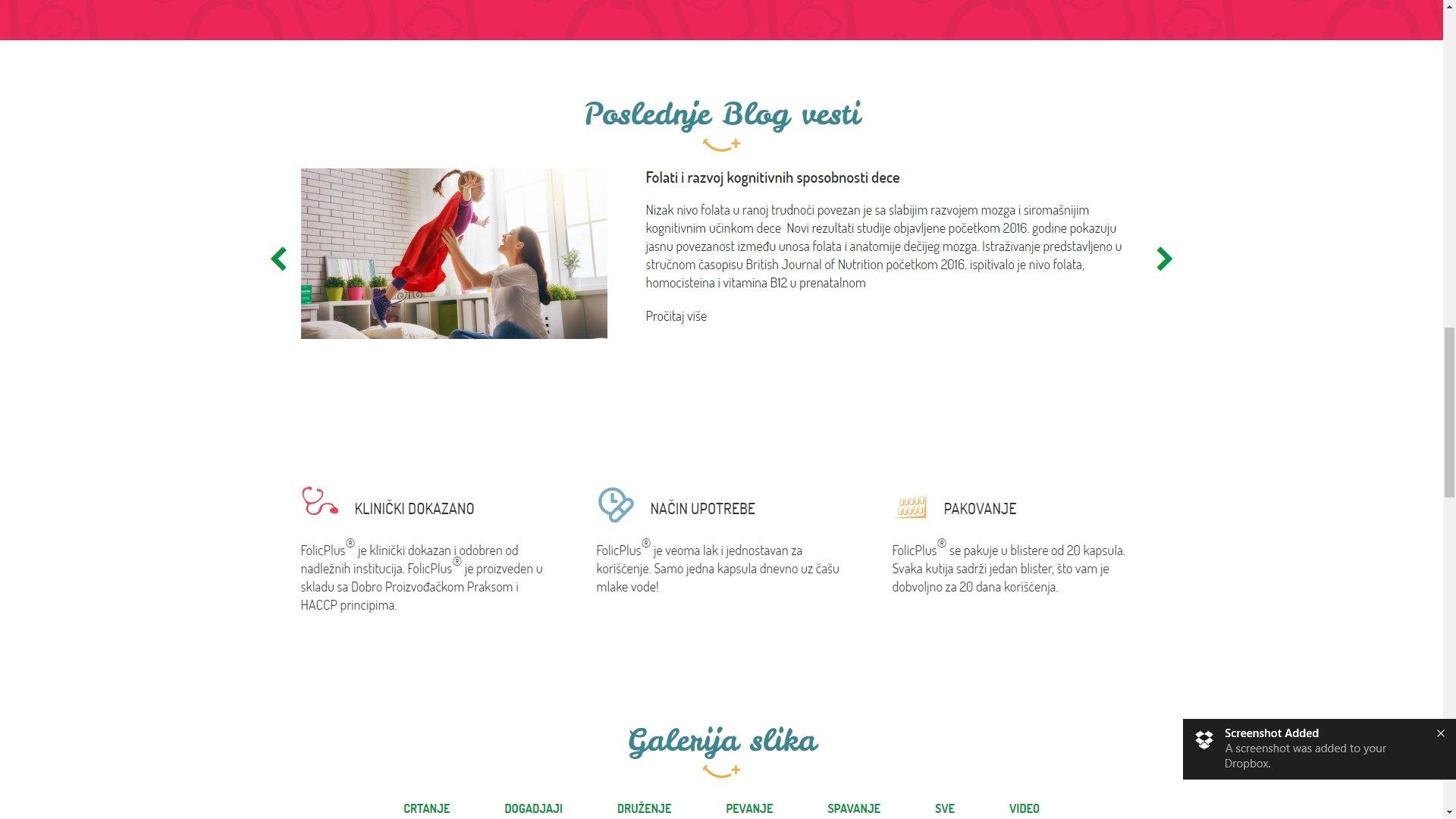 Folic Plus website - ss3