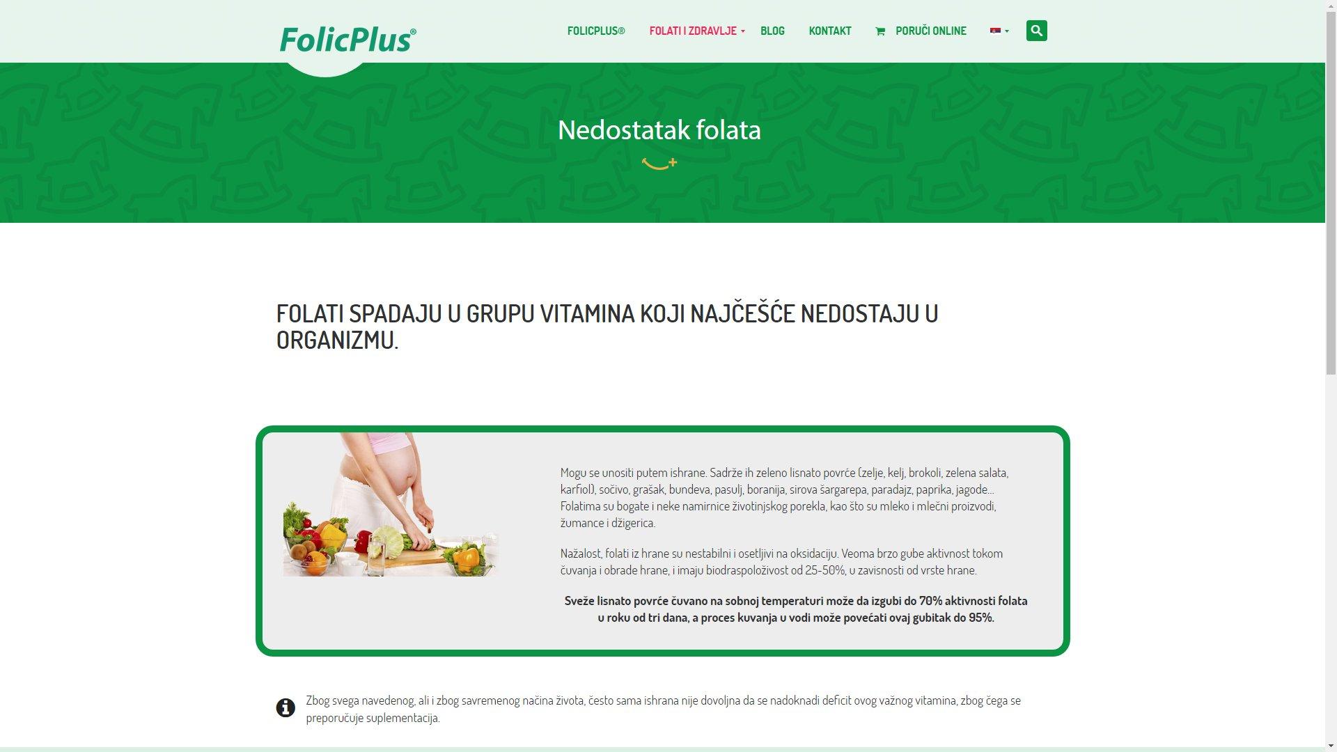 Folic Plus website - ss6